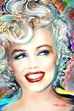 MARILYN MONROE - ELECTRIC ART POSTER - 24x36 - 3280
