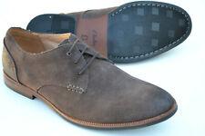 Clarks BNIB Mens Formal Welted Shoes BROYD WALK Dark Brown Suede UK 10.5 / 45