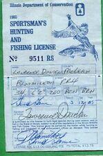 Illinois 1985 Sportsman Hunting & Fishing License Rw52 + State Duck Stamp - 663