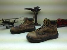 VINTAGE BROWN LEATHER RED WING KING TOE LACE UP FARM CHORE WORK BOOTS SIZE 9.5 M