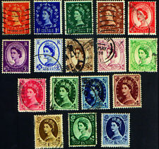 Great Britain 1953 #292 -  308   Elizabeth II Used