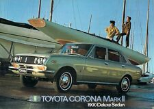 TOYOTA CORONA Mark II 1900 DE LUXE BERLINA 1969-70 UK mercato OPUSCOLO illustrativo