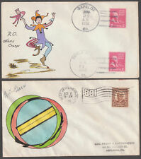 2 DIFFERENT FDCs HAND PAINTED BY GLADYS ADLER BL2980