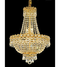 Palace Empire 8 Light Pendant Crystal Chandelier Light -Gold Precio Mayorista
