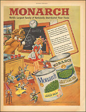 1949 Vintage ad for Monarch Brand Can vegetables. Peas  Art Lion (081016)