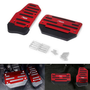 Universal Red Non Slip Automatic Pedal Brake Foot Treadle Covers Car Accessories