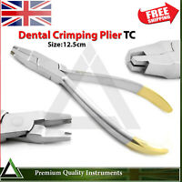 Dental Ball Hook Crimping Plier TC Orthodontics Crimpable Placing Contour Pliers