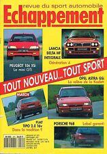 Echappement   N°275   sep 1991 : Lancia delta hf intégrale Opel astra Gsi Fiat t