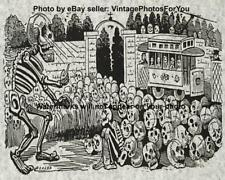 Old Antique Vintage Creepy Weird Strange Odd Skeleton Skull Photo Wall Art