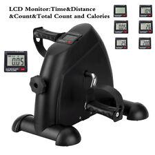 Mini Exercise Bike Arm Leg Resistance Pedal Exerciser Workout Seat Fitness LCD