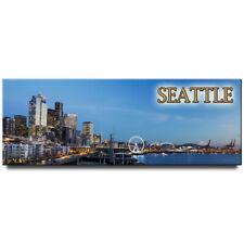 Seattle panoramic fridge magnet Washington travel souvenir