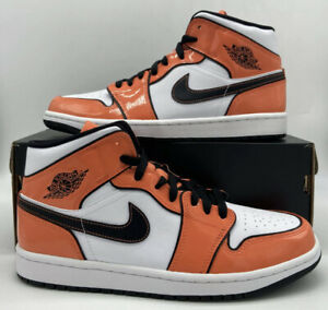 Nike Air Jordan 1 Retro Mid Turf Orange White BQ6931/DD6834-802 Mens GS Size