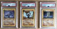 2000 Pokemon PSA 10 1st Edition Team Rocket Evolution: Machop, Machoke Machamp