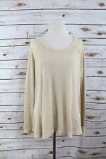 We the free woman size medium thermal top shirt long sleeve beige cream