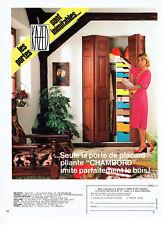 Publicité Advertising 107  1977  porte placard pliante Chambord  Kazed