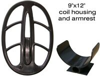 """Metal detector coil housing 9"""" x 12.5"""" (22x32cm.) + bottom cover and armrest"""