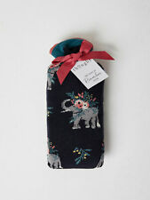 THOUGHT (BRAINTREE) BAMBOO SOCKS - 2 PAIRS GIFT BAG-FLORAL ELEPHANTS (SBW4632)