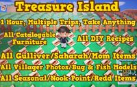 Animal Crossing New Horizons 🔥 1 Hour 🔥 Catalog & Loot Treasure Island! 🔥