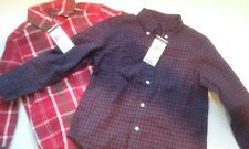 2 BRAND NEW POLO RALPH LAUREN BUTTON DOWN DRESS SHIRTS 4/4T $45. PER BOYS PLAID