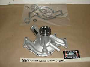 NEW 63-64 Cadillac 390/429 ENGINE ALUMINUM WATER PUMP - 2 OUTLETS - W/GASKET
