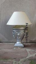 Lampe Tischleuchte Tischlampe Schreibtischlampe Stehlampe Silber Optik 40 Neu