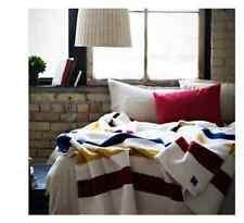 The Revival Stripe vintage wool queen sized blanket MADE IN AMERICA Merino wool