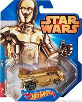 Hot Wheels Car Star Wars C-3PO Robot Gold Rare #13 1:64 Diecast BNIP 13 C3PO