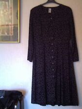 Viscose 3/4 Sleeve Spotted Regular Size Dresses for Women