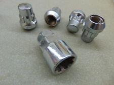 Felgenschlösser chrom Radmutter Gewinde M 14x1,5 Kegelbund Felgenschloss