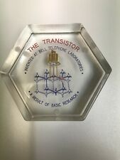 Vintage Lucite Paperweight - THE TRANSISTOR - Tribute to Bell Laboratories