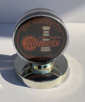 Fort Wayne Komets 92-93 Turner Cup Championship Puck Encased On Stand IHL