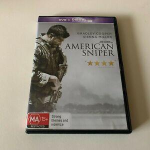 American Sniper (DVD, 2014) Region 4 With Bradley Cooper