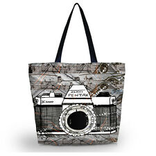 Fashion Soft Foldable Tote Women's Shopping Bag Shoulder Carry Bag Lady Handbag