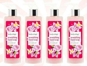 4 Bodycology Pink Vanilla Wish LIMITED EDITION Nourishing Hand Soap 10 OZ