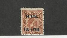 Niue, Postage Stamp, #10 Mint Hinged, 1903 Bird