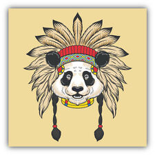 Indian Panda Head Car Bumper Sticker Decal 5'' x 5''