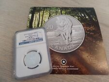 2013 Canada $20 Silver Coin Early Releases Wolf w/ OG COA NGC Graded SP 69
