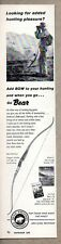 1960 Print Ad Bear Grizzly Hunting Bows Fred Bear with Binoculars Grayling,MI