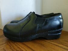 Dansko Pro XP Black Leather Clogs Slip On Women's Size Euro 37/ US 6.5 - 7