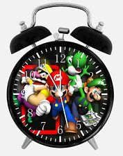 "Super Mario Games Alarm Desk Clock 3.75"" Home or Office Decor Y111 Nice For Gift"