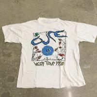 90s VIntage The CURE Tour shirt thin bauhaus goth punk misfits 80s rare limited