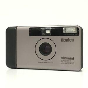 Konica Big mini BM-301 Silver 35mm F3.5 Point & Shoot Film Camera EXC TK03J