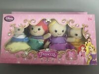 Disney Store Exclusive 4 Pack Princess Finger Puppets - Fabric- Lace Details NEW