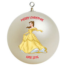Personalized Princess Belle Christmas Ornament Gift