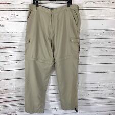 Dakota Grizzly Men's  Convertible Khaki Pants size XLT Hiking Fishing Nylon