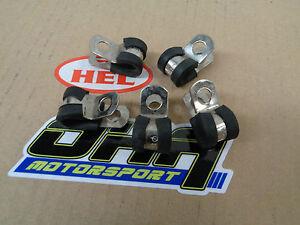 HEL Performance Motorcycle Bike Car Brake Line P Clip Fastener - 5 Pack - NEW