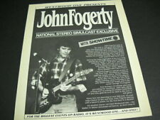 John Fogerty hooks up with Showtime for simulcast 1985 Promo Poster Ad mint