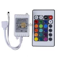 24 Key DC 12V 6A IR Remote LED Controller Box for 5050 3528 RGB LED Strip Light
