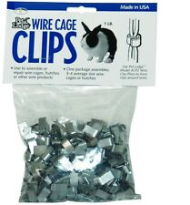 Wire Cage Clips J Clips for Pets - 1 lb pkg Repair of cages pens traps or fences
