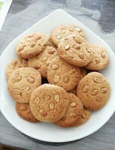 Leckere selbstgebackene Erdnussbutter Cookies/Plätzchen/Kekse  ca. 600 gr.